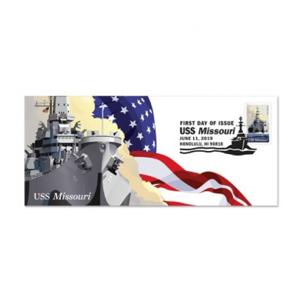 USS MISSOURI CACHET - 1ST DAY ISSUE FOREVER STAMP