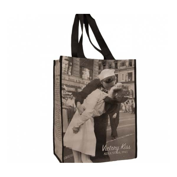 VICTORY KISS REUSABLE ECO SHOPPING TOTE