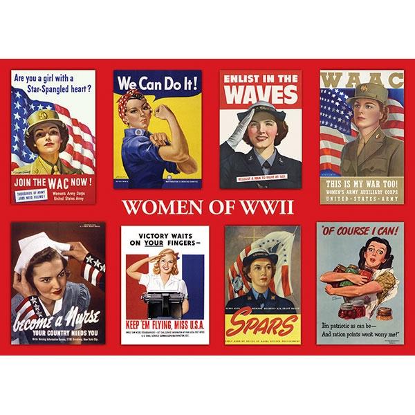 ROSIE & WOMEN OF WORLD WAR II STICKER POSTCARD