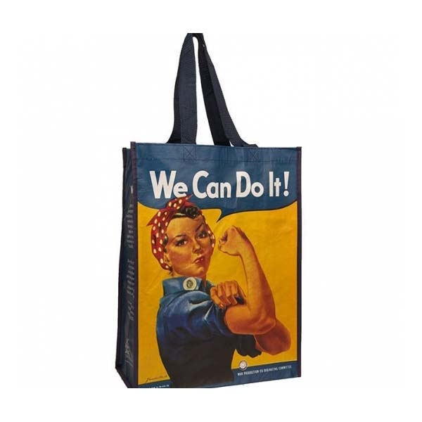 ROSIE THE RIVETER REUSABLE ECO SHOPPING TOTE