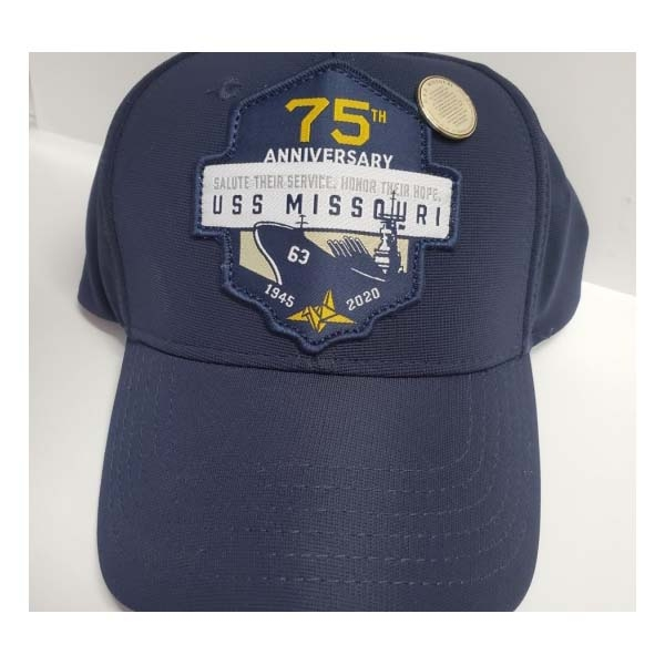 75TH ANNIVERSARY PATCH CAP WITH SURRENDER PIN