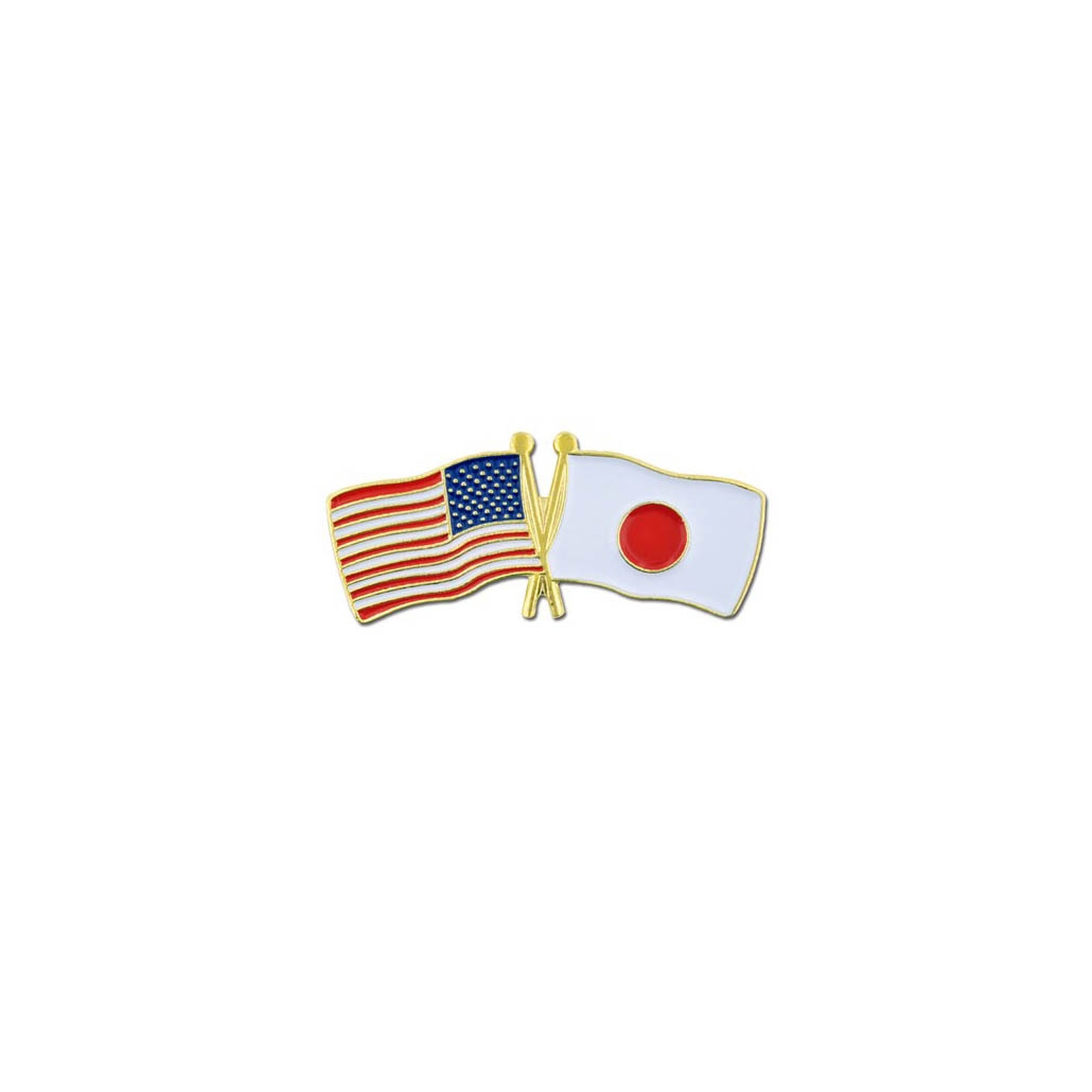 USA AND JAPAN FRIENDSHIP FLAG PIN
