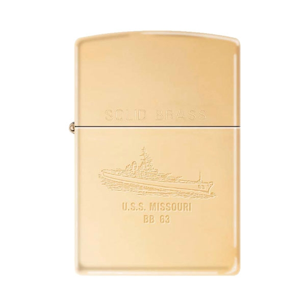 ZIPPO - SOLID BRASS EXCLUSIVE WITH SHIP & SURRENDER SEAL