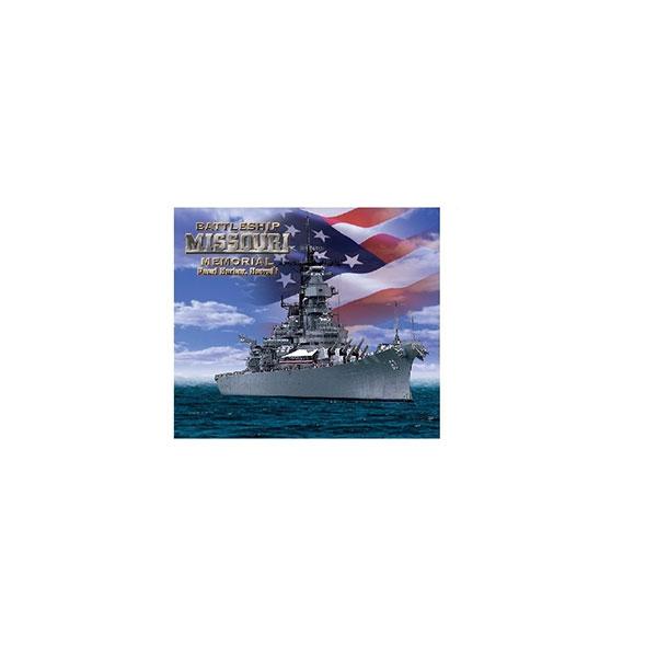 USS MISSOURI PATRIOTIC DUAL LEVEL MAGNET