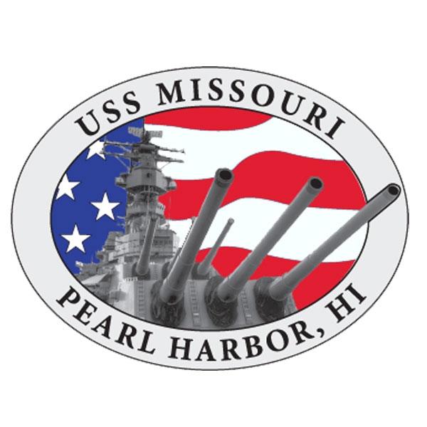 USS MISSOURI PATRIOTIC PIN