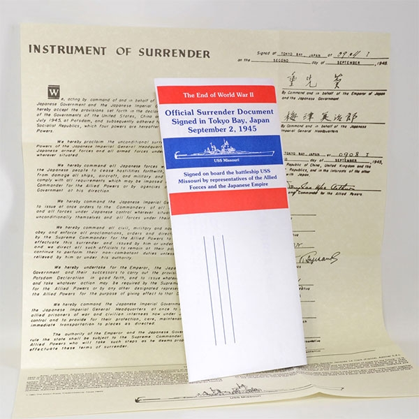 SURRENDER CARD & DOCUMENT 2PC SET