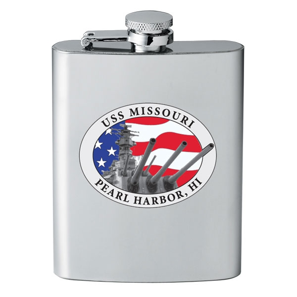 USS MISSOURI PATRIOTIC FLASK