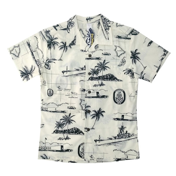 USS MISSOURI ALOHA SHIRT-ADULT