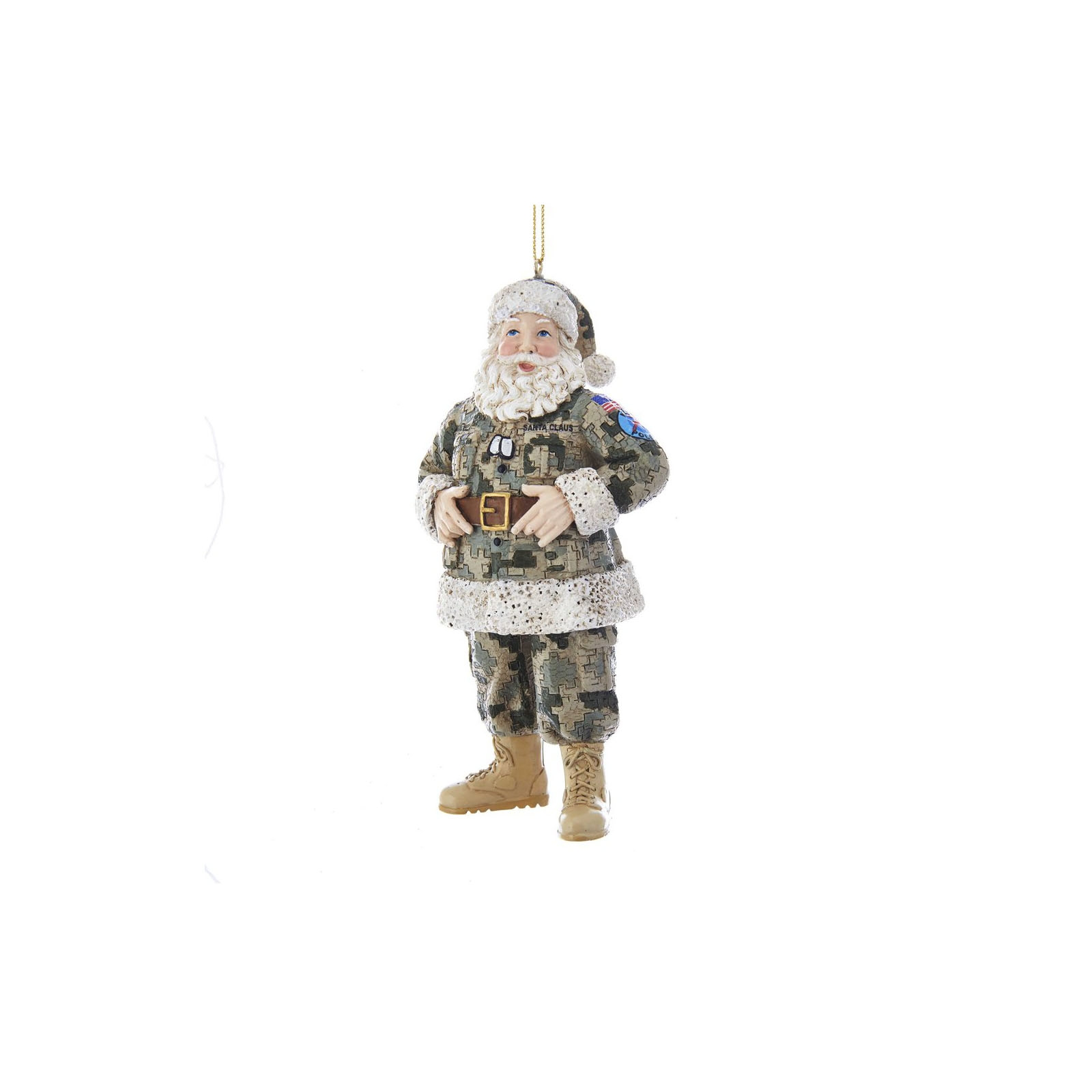 CAMOUFLAGE MILITARY SANTA ORNAMENT