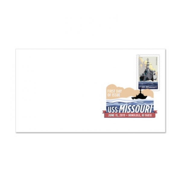 USS MISSOURI DIGITAL COLOR POSTMARK FOREVER STAMP 1ST DAY ISSUE COVER