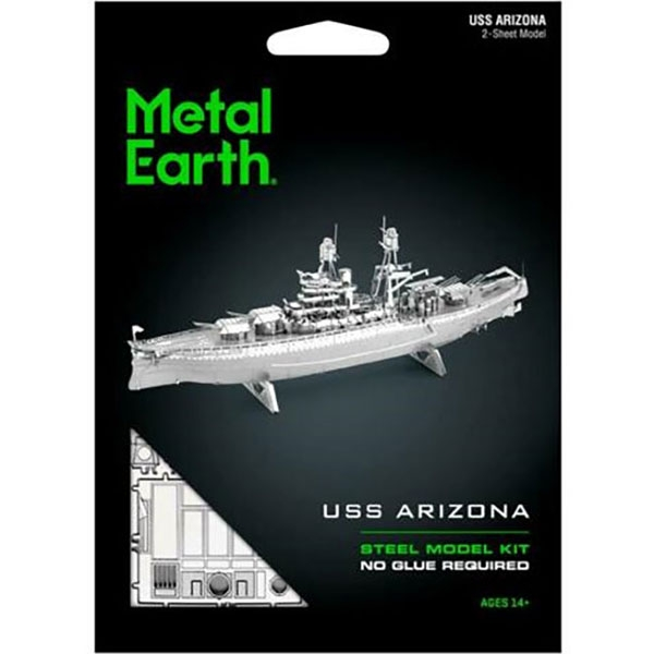 3D METAL MODEL USS ARIZONA KIT