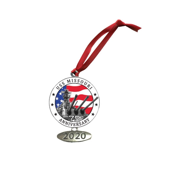 75TH ANNIVERSARY PEWTER ORNAMENT