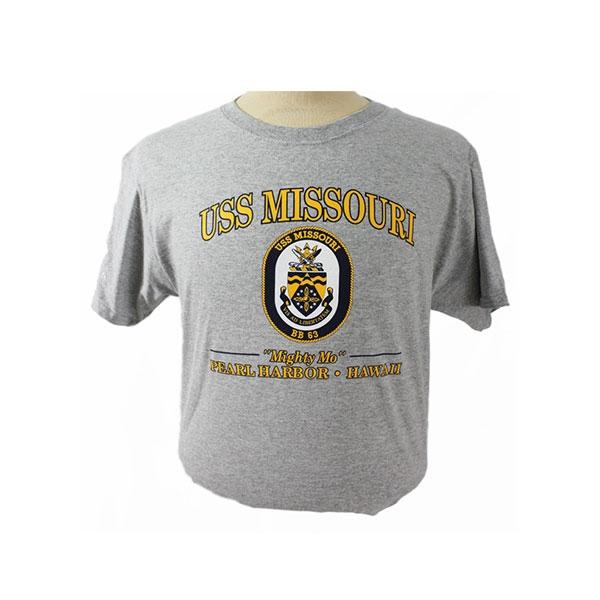 USS MISSOURI CREST TEE SHIRT