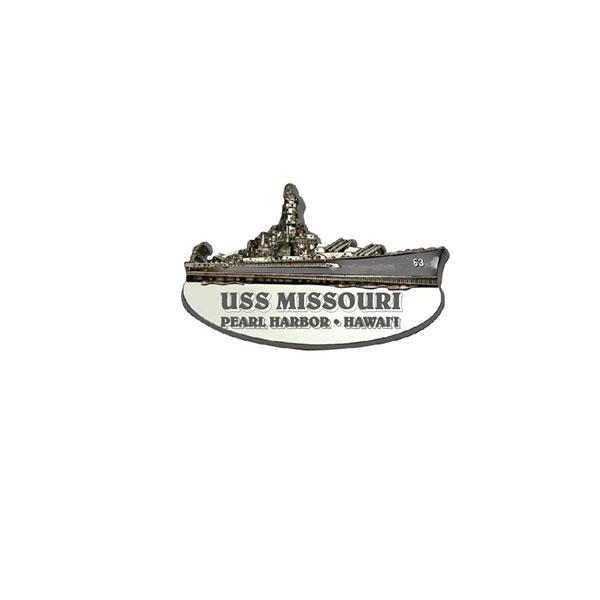 USS MISSOURI SHIP SHAPE METAL MAGNET