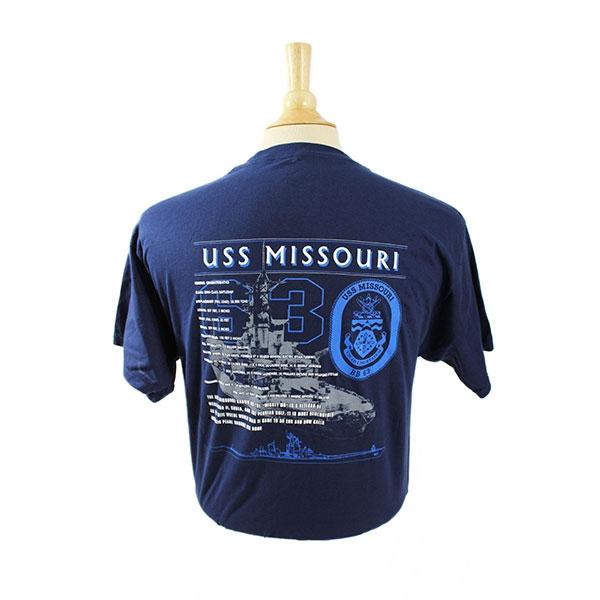 USS MISSOURI STATS TEE SHIRT