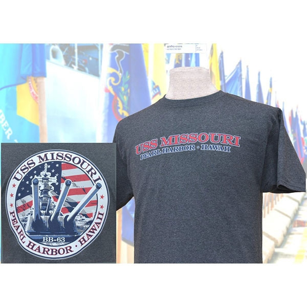 USS MISSOURI GUNS TEE SHIRT