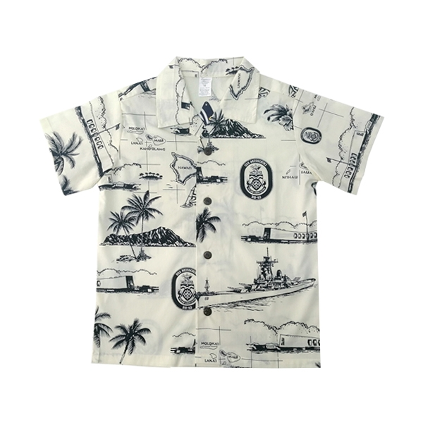 USS MISSOURI ALOHA SHIRT-Youth