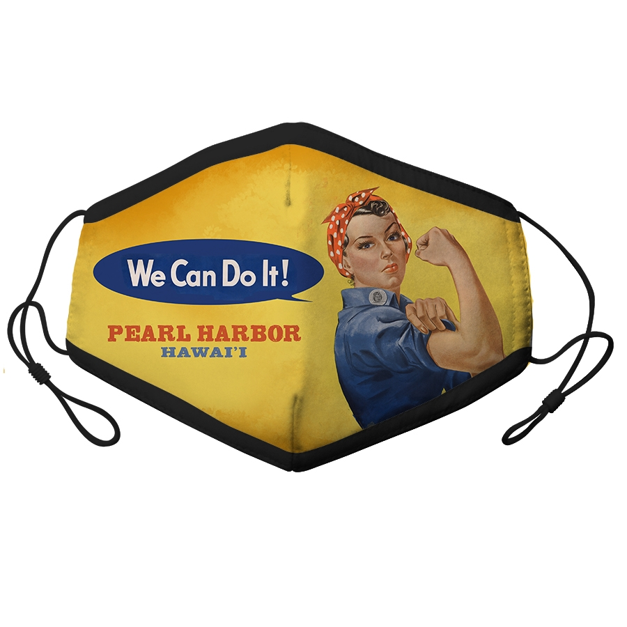 ADULT ADJUSTABLE MASK ROSIE THE RIVETER PEARL HARBOR