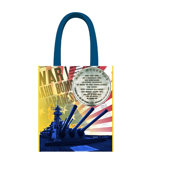 USS MISSOURI BATTLESHIP SURRENDER REUSABLE ECO TOTE BAG