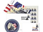USS MISSOURI 1ST DAY ISSUE STAMP CEREMONY MEMENTO 4 PC SET